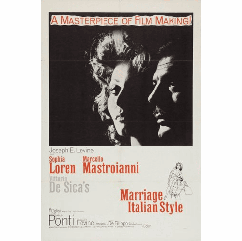 Marriage Italian Style Movie Poster 24x36