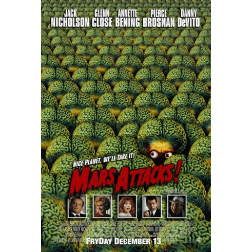 Mars Attacks Movie Poster 24inx36in