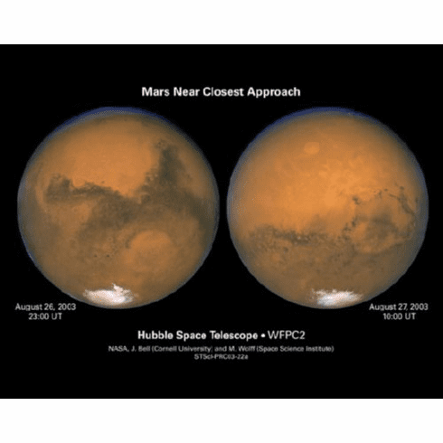 Mars Closest Encounter Poster 24inx36in