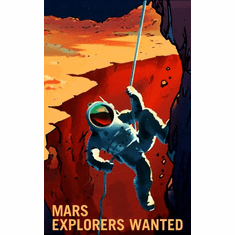 Mars Recruitment Explorers Wanted Poster 24x36