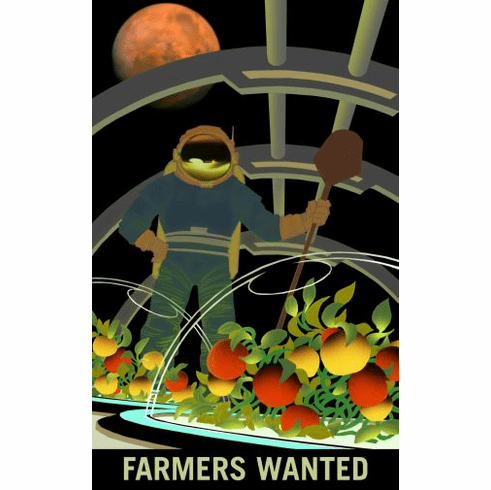 Mars Recruitment Farmers Wanted Poster 24x36