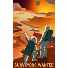 Mars Recruitment Surveyors Wanted Poster 24x36