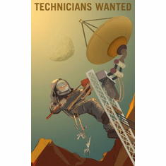 Mars Recruitment Technicians Wanted Poster 24x36