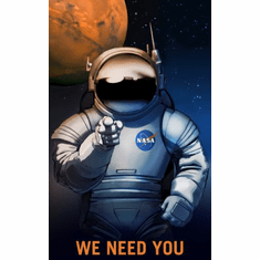 Mars Recruitment We Need You Poster 24x36