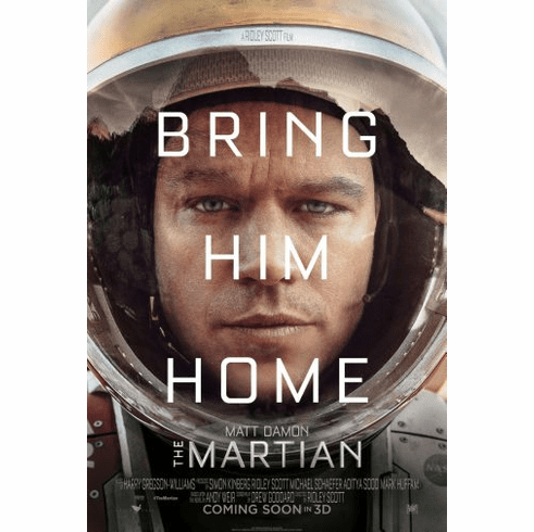 Martian The Movie Poster 24in x36in