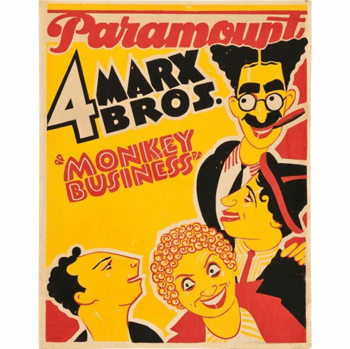 Marx Bros Monkey Business Movie Poster 24inx36in