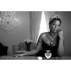 "Mary J Blige Black and White Poster 24""x36"""