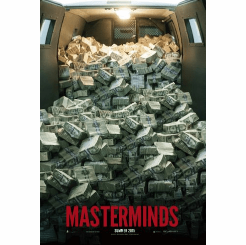 Masterminds Movie Poster 24in x36in