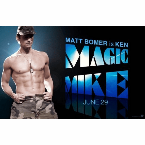 Matt Bomer Magic Mike Mini Movie Poster 11inx17in