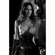 "Megan Fox Black and White Poster 24""x36"""