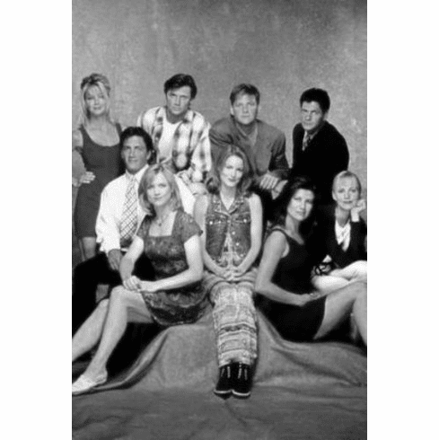"Melrose Place Black and White Poster 24""x36"""