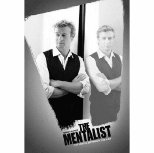 "Mentalist Black and White Poster 24""x36"""