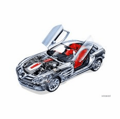 Mercedes Benz Slr Mclaren Cutaway 8x10 photo