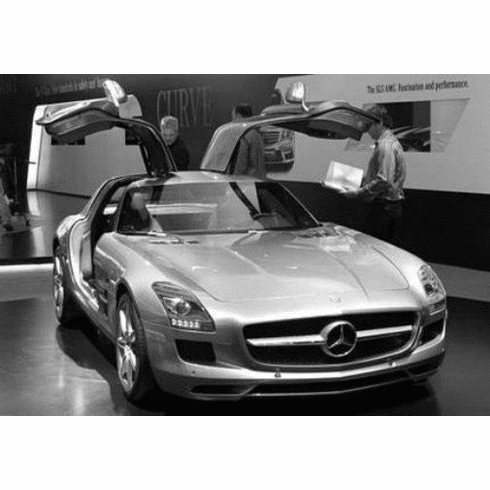 "Mercedes Benz Sls Black and White Poster 24""x36"""