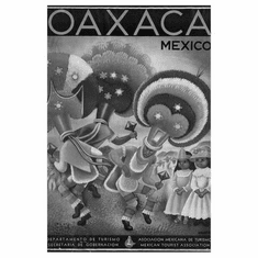 "Mexico Tourism Black and White Poster 24""x36"""