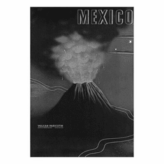 "Mexico Volcano Black and White Poster 24""x36"""
