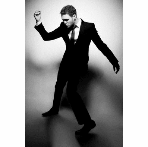 "Michael Buble Black and White Poster 24""x36"""