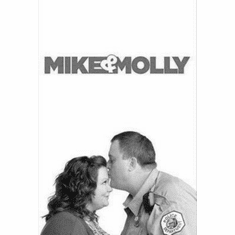 "Mike And Molly Black and White Poster 24""x36"""
