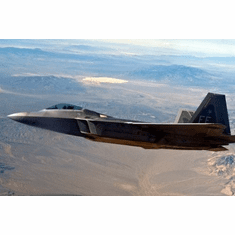 military aviation f22 over area51 8x10 photo