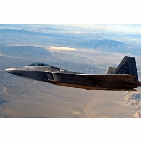 military aviation f22 over area51 Mini Poster 11inx17in poster