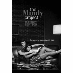 "Mindy Project The Black and White Poster 24""x36"""