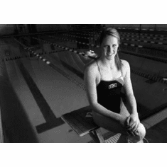 """Missy Franklin Black and White Poster 24""""x36"""""""
