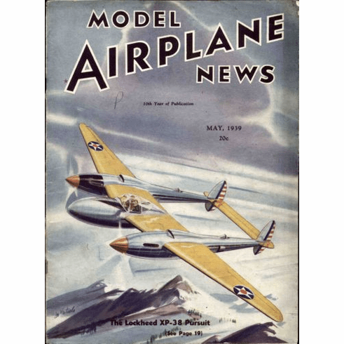 Model Airplane News 1939 Poster 24in x36in