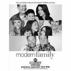 "Modern Family Black and White Poster 24""x36"""