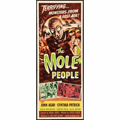 Mole People The 14x36 Insert Movie Poster