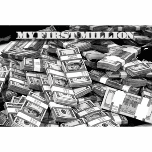 """Money Black and White Poster 24""""x36"""""""