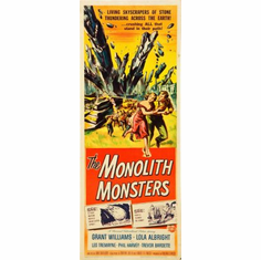 Monolith Monsters The Movie Poster Insert 14x36