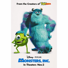 Monsters Inc Movie Poster 24inx36in