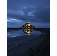 Mont Saint Michel France Poster At Dusk 24inx36in