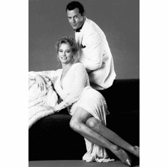 """Moonlighting Black and White Poster 24""""x36"""""""