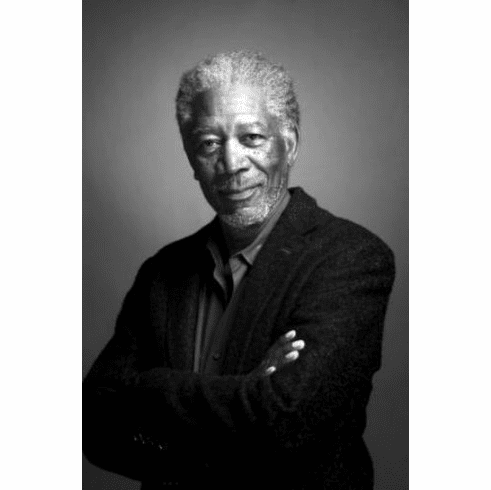 "Morgan Freeman Black and White Poster 24""x36"""