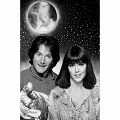 "Mork And Mindy Black and White Poster 24""x36"""