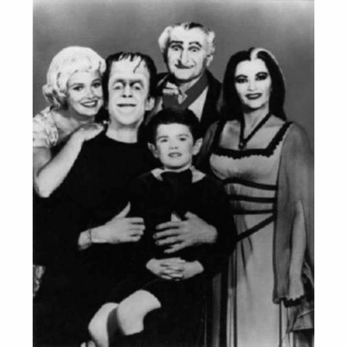 "Munsters Black and White Poster 24""x36"""