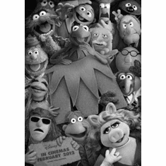 "Muppets Black and White Poster 24""x36"""