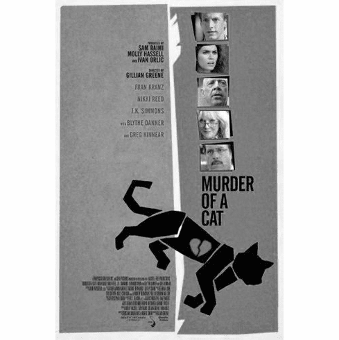 "Murder Of A Cat Black and White Poster 24""x36"""