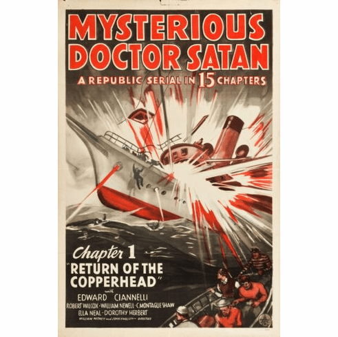 Mysterious Doctor Satan Movie poster 24inx36in Poster