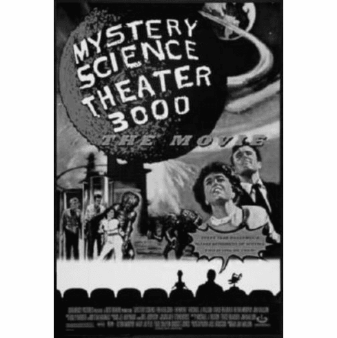 """Mystery Science Theater 3000 Stk3K Black and White Poster 24""""x36"""""""