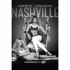 "Nashville Black and White Poster 24""x36"""