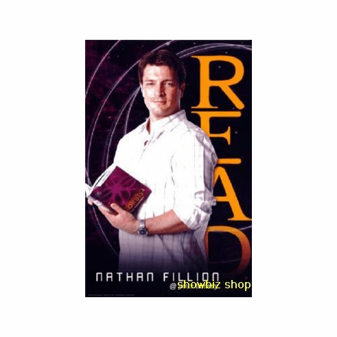 Nathan Fillion Read Poster Castle 24inx36in