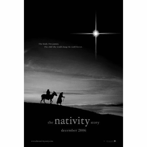 "Nativity Story The Black and White Poster 24""x36"""
