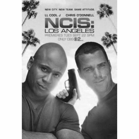 "Ncis Los Angeles Black and White Poster 24""x36"""
