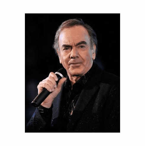 Neil Diamond Poster Close Up In Black 24in x36 in
