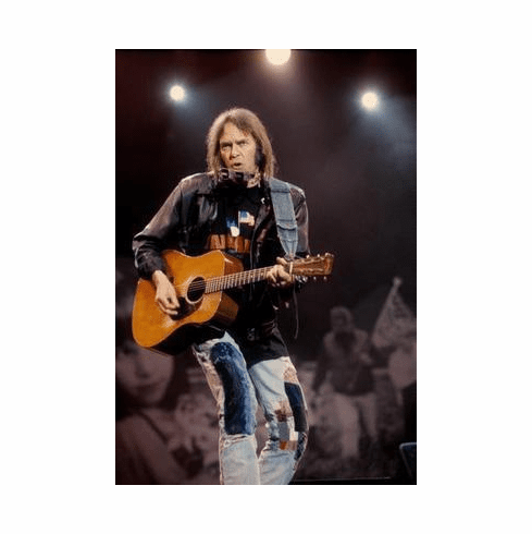 Neil Young Poster Guitar Lights 24in x36 in