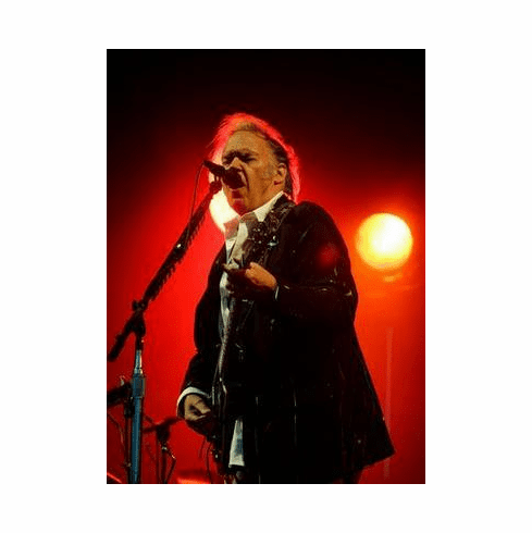 Neil Young Poster On Stage 24in x36 in