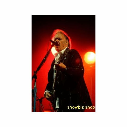 Neil Young Poster Singing On Stage 24inx36in