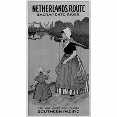 "Netherlands Routes Black and White Poster 24""x36"""
